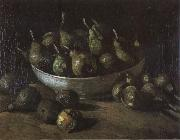 Still life with an Earthen Bowl and Pears (nn04), Vincent Van Gogh