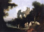 unknow artist Landscape,Ruins and Figure