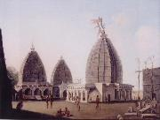 A Group of Temples at Deogarh,Santal Parganas Bihar, unknow artist