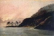unknow artist A View of Point Venus and Matavai Bay,Looking east oil painting on canvas