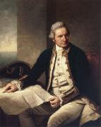unknow artist Captain James Cook oil painting reproduction