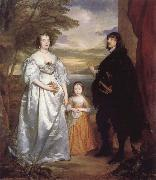 Anthony Van Dyck James Seventh Earl of Derby,His Lady and Child oil painting reproduction