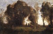 Corot Camille The dance of the nymphs oil painting reproduction