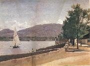 Corot Camille The quai give paquis in geneva oil painting on canvas