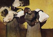 Two Laundryman, Edgar Degas