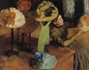 The Store of  Millinery, Edgar Degas