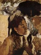 The Woman Play Parasol, Edgar Degas