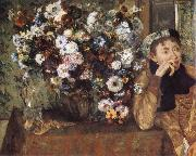 Woman and chrysanthemum, Edgar Degas