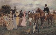 Francisco Miralles Y Galup The Polo Match oil painting