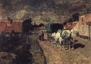 Village Night Scene