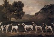 George Stubbs Foxhounds in a Landscape
