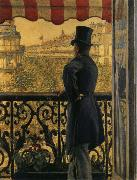 Gustave Caillebotte The view watched from  balcony oil painting on canvas