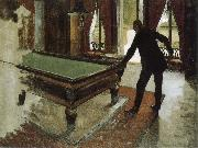 Pool table, Gustave Caillebotte