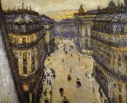 Look down from sixth floor, Gustave Caillebotte