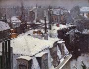 Snow-s housetop, Gustave Caillebotte