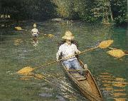 Racing boat, Gustave Caillebotte