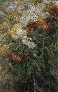 The chrysanthemum in the garden, Gustave Caillebotte
