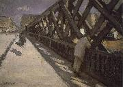 Study of pier, Gustave Caillebotte