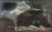 Juan Gris Guitar and fruit dish oil painting on canvas