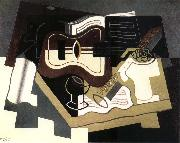 Juan Gris Guitar and clarinet oil painting reproduction
