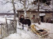 Konstantin Korovin Winter oil painting reproduction