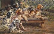Osthaus, Edmund Henry Seven English Setters oil painting