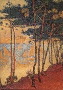 Paul Signac Sail boat and pine oil painting on canvas