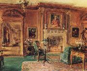 Walter Gay Living Hall oil painting