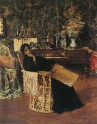 William Merritt Chase In the  Studio oil painting on canvas