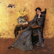 William Merritt Chase Portrait of Dora Wheeler oil painting
