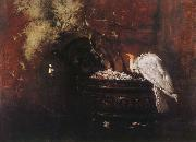 William Merritt Chase Still life and parrot oil painting