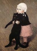 theophile-alexandre steinlen La Fillette au Chat oil painting