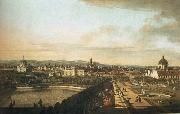 Bernardo Bellotto Vienna,Seen from the Belvedere Palace oil painting on canvas