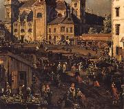 Bernardo Bellotto The Freyung in Vienna from the south-east oil painting reproduction