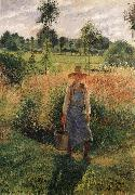 Camille Pissarro The Gardener,Afternoon Sun,Eragny