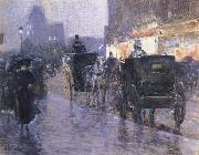Horse Drawn Coach at Evening, Childe Hassam
