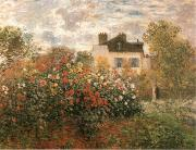 The Artist-s Garden Argenteuil, Claude Monet