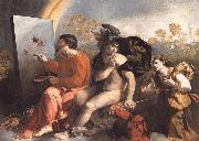 Dosso Dossi Fupite Mercury and Virtus or Virgo oil painting reproduction