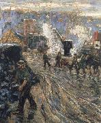 Ernest Lawson Building the New York oil painting reproduction