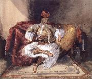 Eugene Delacroix Seated Turk Smoking oil painting on canvas