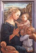Filippino Lippi Madonna with the Child and Two Angels