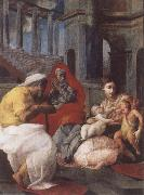 The Holy family with St.Elisabeth and St.John t he Baptist, Francesco Primaticcio