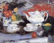 Francis Campbell Boileau Cadell Still Life with White Teapot oil painting artist