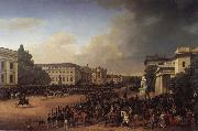Franz Kruger Parade on Opernplatz in 1822