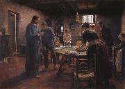 Fritz von Uhde Grace oil painting