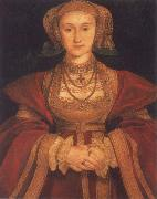 Portrait of Anne of Clevers,Queen of England, Hans holbein the younger