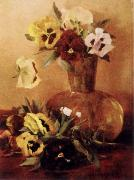Pansies in a Glass Vase, Hirst, Claude Raguet