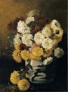 Hirst, Claude Raguet Chrysanthemums in a Canton Vase