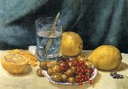 Still Life with Lemons,Red Currants,and Gooseberries, Hirst, Claude Raguet