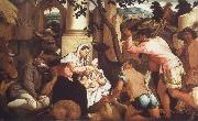 Jacopo Bassano The Adoration of the Shepherds oil painting on canvas
